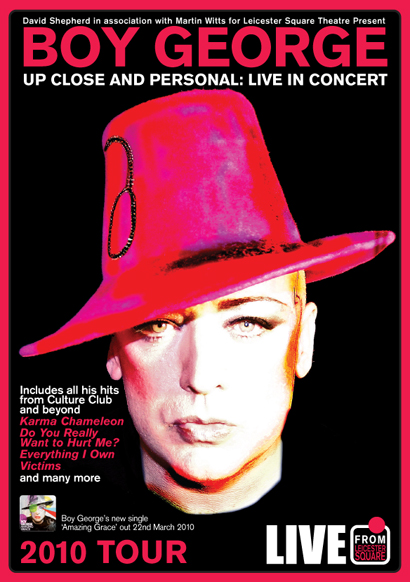 Boy George: Up Close & Personal - Tour Print